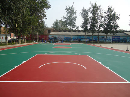 Acrylic basketball court